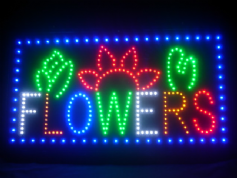 Flowers LED Sign